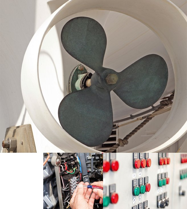 Super Yacht Propeller and Switchboard