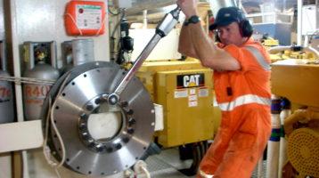 marine engineer on the tools