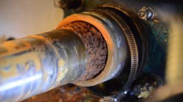 Corroded shaft on tender