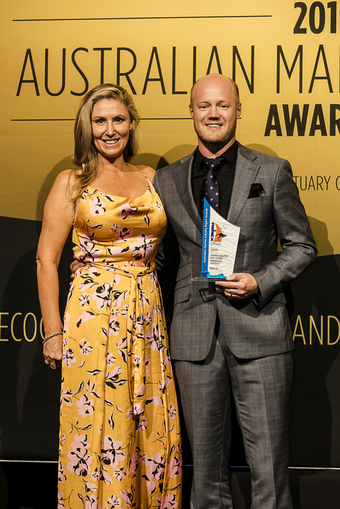Technical Director, Matt Hyde, collects award for Marine Industry Best Marketing Strategy.